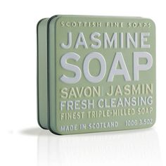 Soap Tin Collection - Cleansing Jasmine Soap 100g : Scottish Fine Soaps, Luxury Bath and Body Specialists