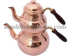 Capacity of the Copper Teapot Base 1.3 liters Top 0.8 liters  Weight of the Copper Teapot 815 grams  Dimensions of the Copper Teapot 31 cm height 22 cm width  Our collection of copper cookware is a combination of two powerful and traditional materials, copper and tin.  $60