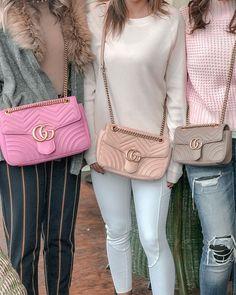 a753b359554c Bubblegum Pink GG Marmont Matelasse Medium Shoulder Bag / Dusty Pink/Nude GG  Marmont Matelasse