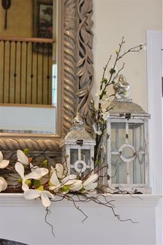 Spring style for a mantle  #HomeGoodsHappy #sponsored
