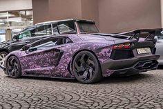 Pink camo #Lambo #Aventador #Lamborghini #camouflage