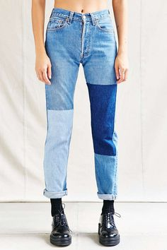 Urban Renewal Recycled Denim Panel Patch Jean