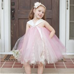 2017 Top quality Princess Flower Girl Dresses Pink Bud Silk 2-12Year Cute Draped Ball Gown Evening Dress Children party