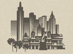 Illustration Las Vegas by Gal Yuri