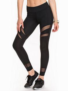 Mesh Stripe Tights - Nly Sport - Noir - Collants - Vêtements De Sport - Femme - Nelly.com La Mode En Ligne Sur Internet