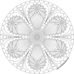 Mandala to print and color- available in jpg and transparent png format