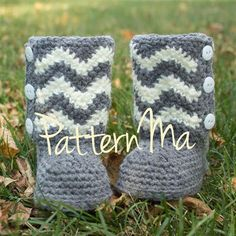 Crochet Pattern Toddler Instant Download Chevron Boots  18