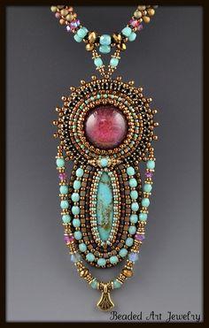 belaquadros:    Susan A Pierle  Beaded Art Jewelry