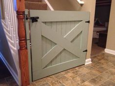 Barn door baby gate!  Cheaper than store bought and way cuter :)