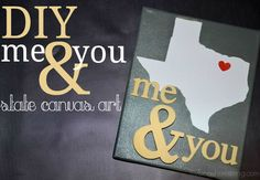 DIY Me and You State Canvas Art