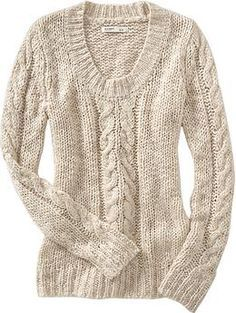 women's chunky cable-knit sweater from old navy Cute Winter Sweaters, Dressy Sweaters, Sweaters For Women, Chunky Cable Knit Sweater, Loose Knit Sweaters, Chunky Sweaters, Knit Jumpers, Comfy Sweater, Warm Sweaters