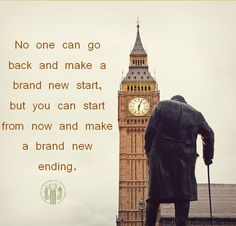 No one can go back and make a brand new start, but you can start from now and make a brand new ending #quotes #motivation