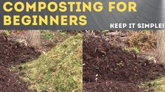 How to make Compost - The Simplest Easy Method To Compost Piles! - YouTube Garden Compost, Vegetable Garden, Gardening For Beginners, Gardening Tips, How To Make Compost, Garden Projects, Garden Ideas, Backyard Ideas, Soil Improvement