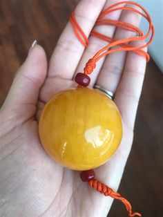 From Lithuania, an Enormous Old Yellow colour Baltic Amber bead/necklace (49.9 g.) 2E | eBay