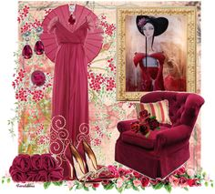 """The Colors: Cerise Red"" by fiordiluna on Polyvore"