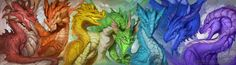 Spectrum of Dragons by The-SixthLeafClover.deviantart.com on @DeviantArt