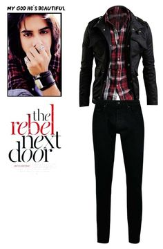 """Rebel Next Door<3"" by soccerstar59777 ❤ liked on Polyvore featuring Topman, men's fashion, menswear and wardrobebasics"