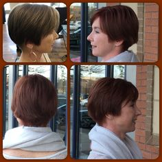Beautiful #violetbrown on @agreely before and after #goldwell #topchic #freshhair #getfresh @afreshsalon #hairbyjose