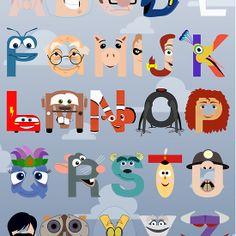 Pixar Alphabet. How cute for a nursery!