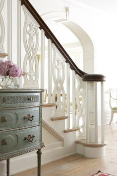 Love the banister, but I'd want the spindles to be less fancy :)