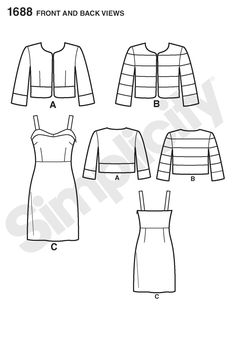 Simplicity Creative Group - Misses' Dress and Jacket Cynthia Rowley Collection