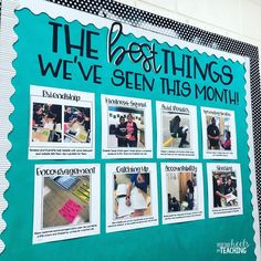 """""""This time of year can be a little trying, so I'm trying my best to stay focused and concentrate on all the positive things happening in our…"""" Classroom Bulletin Boards, Classroom Community, Classroom Setting, Classroom Displays, Future Classroom, School Classroom, Classroom Themes, Classroom Door, Classroom Organization"""