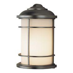 Feiss Lighting Lighthouse Burnished Bronze LED Outdoor Wall Light | OL2203BB-LED | Destination Lighting