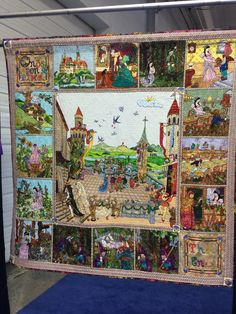 "WOW! Best of Show & Viewers Choice Winner: PA National Quilt Extravaganza XXI. ""Once Upon A Time"" by Sieglinde Schoen Smith from Carlisle, PA. Hand appliqued, hand pieced, hand quilted, original design. 2014 Pennsylvania National Quilt Festival, photo by Star and Philly"