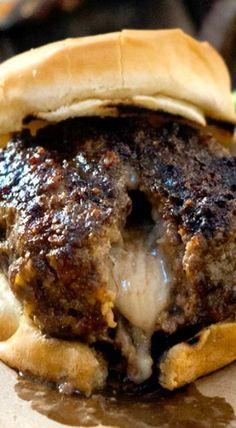 Pepper Jack Stuffed Doritos Burgers: