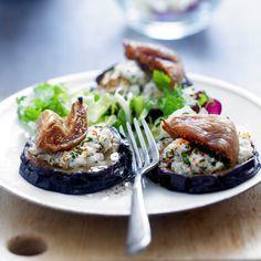 Découvrez la recette Aubergines au chèvre sur cuisineactuelle.fr.