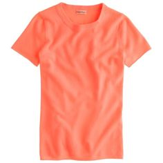J. Crew Cashmere Tee 100% cashmere. Excellent condition, no flaws to note. Color is coral, most like in the first photo. Freshly laundered. From retail, not factory. Please let me know if you have questions and please feel free to make an offer using the offer button. J. Crew Sweaters