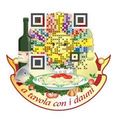 "QRcode ""A tavola con i Dauni"", Restaurant i Foggia province, Apulia region, #Atavolaconidauni @AtavolaDauni @Gargano Destination"