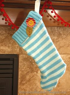 recycled sweater stocking.