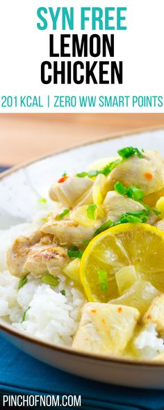Syn Free Lemon Chicken | Pinch Of Nom Slimming World Recipes     201 kcal | Syn Free | Zero Weight Watchers Smart Points