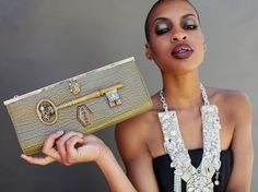 Steampunk+Clutch+Green+crocodile+print+Purse+by+HopscotchCouture,+$237.00