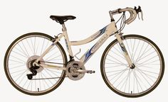 GMC Denali Women 21-speed road bike built with a 19.5-inch lightweight aluminum frame. This model is very suitable for women, the traditional form so it is easy to get off.
