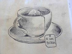 New Post coffee cup pencil sketch visit Bobayule Trending Decors Cool Art Drawings, Pencil Art Drawings, Art Drawings Sketches, Tea Cup Drawing, Coffee Drawing, Hatch Drawing, 30 Day Art Challenge, Beginner Sketches, Still Life Drawing