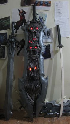 Darksiders WAR Cosplay W.I.P. (Chaos Eater  10) by MEG-Cosplay.deviantart.com on @deviantART Darksiders Death, Darksiders Horsemen, Darksiders Game, Meg Cosplay, Cosplay Armor, Anime Weapons, Fantasy Weapons, Battle Chasers, Cool Swords