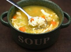 Easy Chicken and Rice Soup Recipe. Simple, but so good!