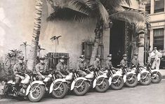 Policía en Harley de Honolulú de 1942.