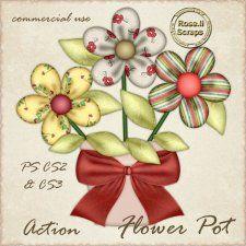 Action - Flower Pot by Rose.li cudigitals.com cu commercial action bow ribbonelements scrap scrapbook digital graphics#digitalscrapbooking #photoshop #digiscrap #scrapbooking