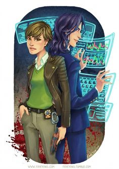 Fan art for the In Death Series by JD Robb!  Lt. Eve Dallas and Roarke!