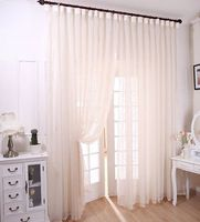 Home Decoration embroidered tulle curtain 3 * 2.6m customize finished curtains for living room bedroom 2 colors free shipping