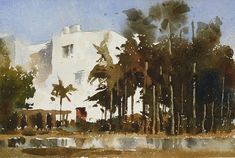 Chien Chung-Wei 【The white house 白屋】Watercolour....Demo by Chien Chung Wei,18*27CM