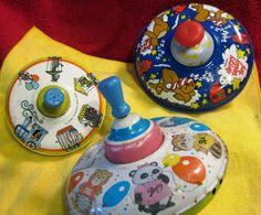 Vintage Old Tin Toys Three of The Ohio Art by WHISTLESTOPTRAINSHOP