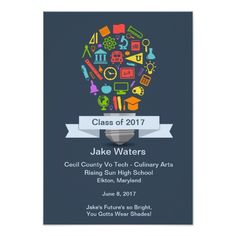 School Light Bulb Retirement Party Invitation
