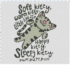 big bang theory soft kitty cross stitch                                                                                                                                                                                 Mais