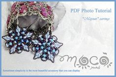 Photo Tutorial ENG  ITA DIY EarringsMaysun earrings by MocoJewels