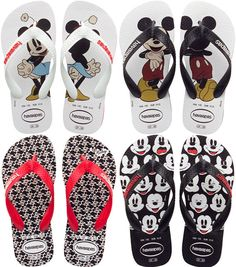 Mickey Mouse flip flops. I hate flip flops with a passion and I would only wear these if they are sandals!!!