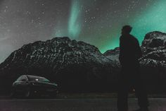 On our Northern Lights Tesla Experience in Tromso, we will take you into the arctic fjords in search of epic landscapes and of course, the northern lights. Pukka, Tromso, Arctic, Norway, Northern Lights, Landscape, Winter, Travel, Winter Time